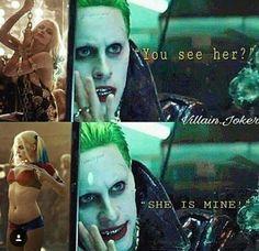 ❝Property of Mister J.❞ — Oh puddin Joker. Harley And Joker Love, Joker And Harley Quinn, Dc Memes, Funny Memes, Harly Quinn Quotes, Jared Leto Joker, Harely Quinn, Dc Comics, Joker Quotes