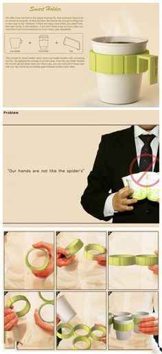 Smart holder tea or cofee plastic cup