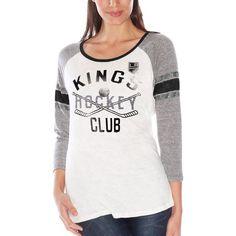 Los Angeles Kings Women's GIII Wishbone 3/4-Sleeve T-Shirt – White