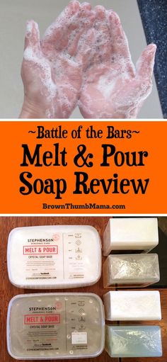 of the 6 most popular melt and pour soap bases, what types of skin they are best for, and ratings of their bubble-making ability. Breastmilk Soap, Soap Melt And Pour, Soap Making Supplies, Wie Macht Man, Homemade Soap Recipes, Homemade Gifts, Best Soap, Soap Base, Shampoo Bar