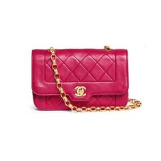 Vintage Chanel Border tab mini quilted leather flap bag ($4,685) ❤ liked on Polyvore featuring bags, handbags, purple, vintage purses, pink quilted handbag, mini purse, chanel and quilted leather handbags