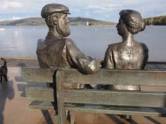 Peter Bustin | bronzed statue of Alexander Graham Bell and his wife Mabel. The statue is a gift to Baddeck, Cape Breton NS from Aliant and Bell Canada and was created by Halifax sculptor Peter Bustin.| Artist/Sculptor, also working in animation and the film industry. He has completed many public sculpture commissions which can be found in Canada, the United States, and Britain.