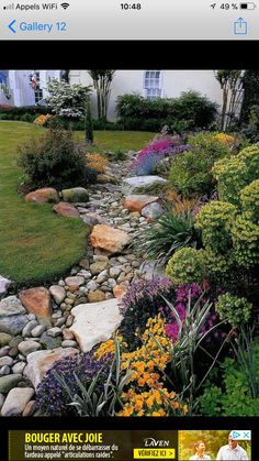 Front Yard Garden Design 64 Amazing Front Yard Rock Garden Landscaping Ideas - Page 36 of 67 - River Rock Landscaping, Small Front Yard Landscaping, Front Yard Design, Landscaping With Rocks, Backyard Landscaping, Landscaping Ideas, Backyard Ideas, Dry Riverbed Landscaping, Luxury Landscaping