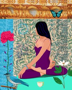 #illustration #yoga #poster One of a series of illustrated Yoga Posters http://www.etsy.com/ca/shop/JACKIEPOPPRINTS