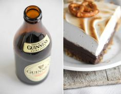 sweet and salty guinness chocolate pie with beer marshmallow meringue.