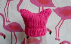 Mini pussy hat for the Innocent big knit- free knitting pattern