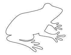 Printable frog pattern. Use the pattern for crafts, creating stencils, scrapbooking, and more. Free PDF template to download and print at http://patternuniverse.com/download/frog-pattern/.