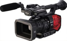 Panasonic Handheld Camcorder with Four Thirds Sensor and Integrated Zoom Lens- I see this being a useful event/ running doc cam. Possibly good for one man band shoots 35mm Camera, Camera Tripod, Best Camera, Instax Camera, Camera Gear, Camcorder, Canon, Handheld Camera, Electronic Arts