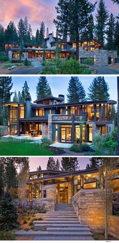 "RKD Architects have sent us photos of the ""Valhalla Residence"" they designed, located in the Sierra Mountains, near Truckee, California. RKD Architects have sent us. Chalet Modern, Mountain Homes, Modern Mountain Home, Forest Mountain, House Goals, Modern House Design, Exterior Design, Modern Architecture, California Architecture"