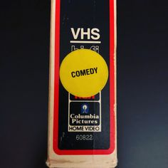 VHS Comedy genre sticker, video store rental