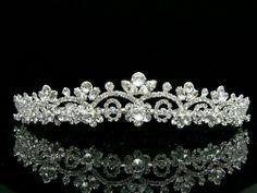 Bridal Wedding Pageant Prom Floral Design Tiara Crown - Clear Crystals Silver Plating Venus Jewelry,http://www.amazon.com/dp/B008CSD7E8/ref=cm_sw_r_pi_dp_0ssgtb0ZSCVH8FZV
