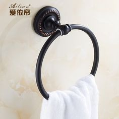 29.99$  Buy here - http://aiqc2.worlditems.win/all/product.php?id=32657354796 - Luxury home decor retro classic European Towel ring full of copper bronze ceramic printing towel ring towel hanging towel bar