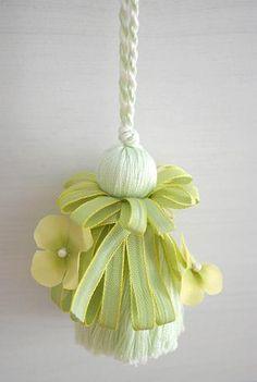 Light green tassel
