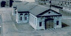 Nikola Tesla and George Westinghouse built the first hydro-electric power plant in 1895 in Niagara Falls and started the electrification of the world. The remaining building of the original power plant, Adam's Station, Power House No. 3, survived to this day since 1895 and is shown here.