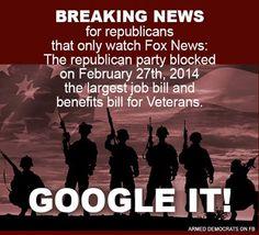 Republican and veterans.