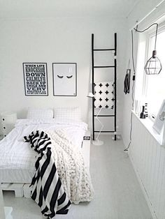 Tumblr Rooms — Black and white rooms are my favourite