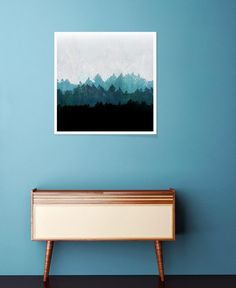 Woods Abstract as Premium Poster by Mareike Böhmer | JUNIQE