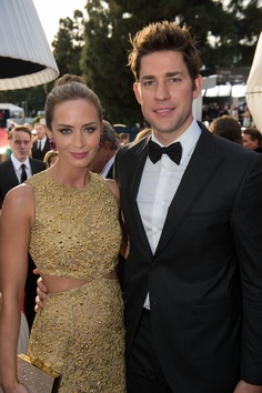 Golden Globe Celebrity Fashion 2013 - Emily Blunt and John Krasinski