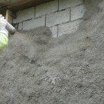 Isolation des murs - béton de chanvre