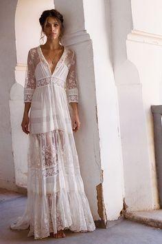Mila De Wit-Bourke wears Spell Designs Evangeline Gown