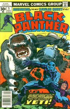 Black Panther #5 September 1977 [30 cent cover price]