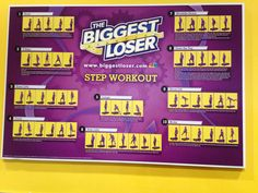 biggest loser step workout poster  blog dandk