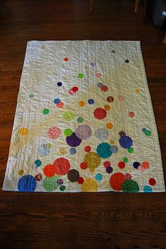 Confetti Quilt by Lady Harvatine, via Flickr  The next quilt I make....it's a good way to  practice applique and use up some scraps