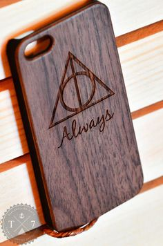Harry Potter Deathly Hallows Always Wooden iPhone 5 5s by StudioT7