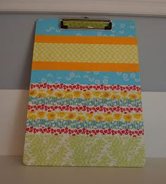 Craft Room Confidential: Washi Tape Clipboard