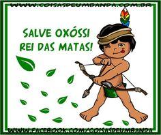 Desenho de Oxossi Mirin feito para os produtos da Loja Virtual Coisas de Umbanda. www.coisasdeumbanda.com.br