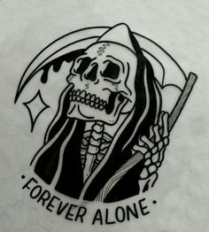Tattoo traditional grim reaper posts Super ideasYou can find Grim reaper tattoo and more on our website. Om Tattoo, Tattoo Dotwork, Tattoo Photo, Tattoo Und Piercing, Death Tattoo, Tattoo Tod, Tattoo Outline, Black Tattoos, Body Art Tattoos