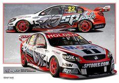 Print 31 photo by Velocemoto Australian V8 Supercars, Car Prints, Racing Team, Car Wrap, Porsche 911, Rally, Touring, Race Cars, Super Cars
