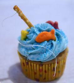 fishing fun cupcakes