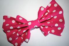 """""""Spot Me Pink"""" bow from Sincerely, Maeko!    http://sincerelymaeko.storenvy.com"""