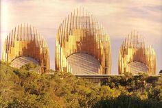 Jean-Marie Tjibaou Cultural Centre. Noumea, New Caledonia, 1991-7 / Renzo Piano