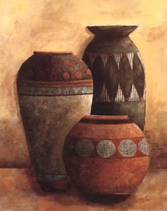 Vessels II Fine-Art Print by Kristy Goggio at Market Vessels II Fine-Art Print by Kristy Goggio at Find Art, Afrique Art, Indian Art Paintings, Pottery Painting, Painting Inspiration, American Art, Painting & Drawing, Canvas Art, Big Canvas
