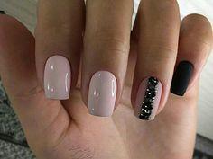 Маникюр шеллак на коротких ногтях, дизайн на любой вкус. 60+ фото