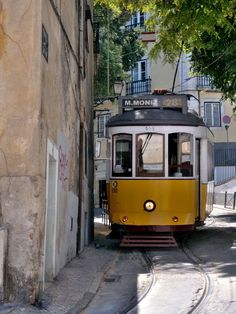 legendary tram 28 is a tourist attraction in itself. It goes to Alfama and all around the town of Lisbon - Portugal