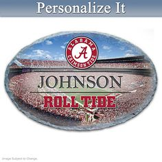35277931778 Alabama Crimson Tide Personalized Outdoor Welcome Sign