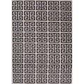 Handmade Flat Weave Geometric Black/ White Wool Rug (8' x 10')   Overstock.com
