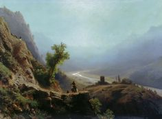 Lagorio, Lev (1827-1905) → In the Caucasus Mountains. 1879. Canvas