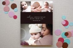chic baby Birth Announcements by kelli hall at minted.com NTS: put quote on back side?