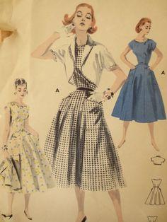Vintage Butterick 7687 Sewing Pattern 1950s by sewbettyanddot, $8.50