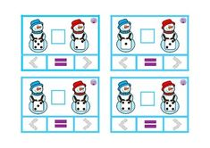 Clip cards comparing numbers snowman with dice Winter Activities, Math Activities, Comparing Numbers, Math Centers, Dice, Snowman, Kids Rugs, Atelier, Kid Friendly Rugs