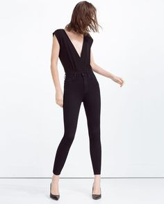 HIGH WAIST SKINNY TROUSERS-High Waisted-JEANS-WOMAN | ZARA United States