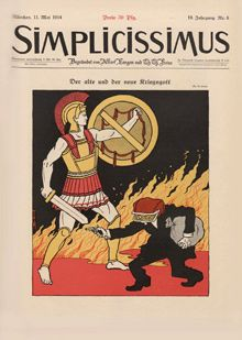 Simplicissimus covers of 11/5/1914, cover by TT Heine