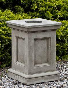 Campania International, Inc Barnett Pedestal Color: Ferro Rustico Gaylord Boxes, Pedestal, Urn Planters, Modelos 3d, Cast Stone, Garden Stones, St Louis, Garden Sculpture, It Cast