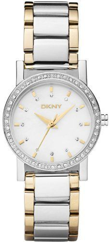 DKNY Two-tone with Glitz Mother-of-pearl Dial Women's watch #NY8193 DKNY. $114.82. 50 Meters / 165 Feet / 5 ATM Water Resistant. Quartz Movement. Mineral Crystal. 31mm Case Diameter. Save 15% Off!