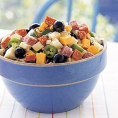 Antipasto - great to keep in the fridge for a low carb snack!