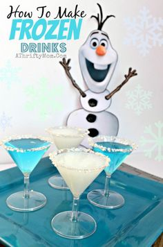 Moms love Frozen too! A treat for the hard working parents putting on the party. Pretty cocktail drinks in cool winter colors. Light them up with LED ice cubes!: http://www.flashingblinkylights.com/light-up-products/lighted-ice-cubes.html?utm_source=Pinterest&utm_medium=LED%20Ice%20Cubes&utm_campaign=Disney%20Frozen%20Party%20Ideas